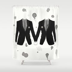 Gay Marriage Shower Curtain