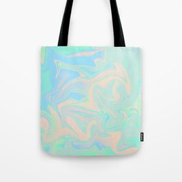 Faux Holographic Iridescent Texture Tote Bag