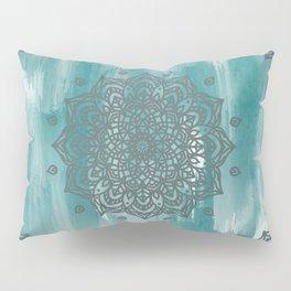 Abstract Teal Mandala Pillow Sham