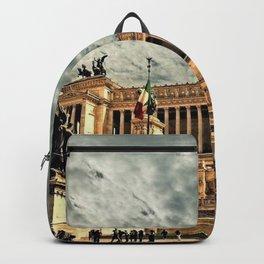 Vittorio Emanuele Monument Palace Rome Italy Backpack