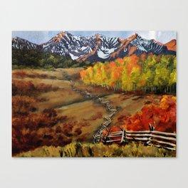 Window to Telluride Canvas Print