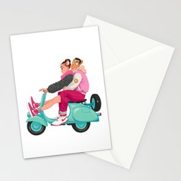 A Valentine with sneaker and Vespa Stationery Cards
