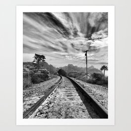 La Selva Beach Train Tracks Art Print