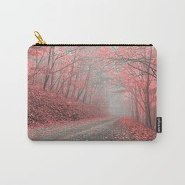 Misty Forest Road - Tickle Me Pink Carry-All Pouch