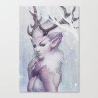princess Canvas Prints featuring Reindeer Princess by Artgerm™