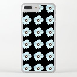 white flower -bloom,blossom,petal,floral,leaves,flor,garden,nature,plant. Clear iPhone Case