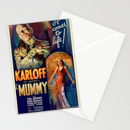 The Mummy vintage movie poster Stationery Cards