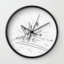 Cross Country Ski Attempt Wall Clock