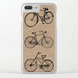 Vintage bicycle artwork Clear iPhone Case