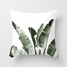 Traveler palm Throw Pillow