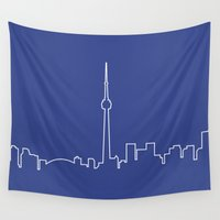 toronto Wall Tapestries featuring Toronto by Emir Simsek