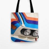 bmw Tote Bags featuring BMW CSL by Internal Combustion