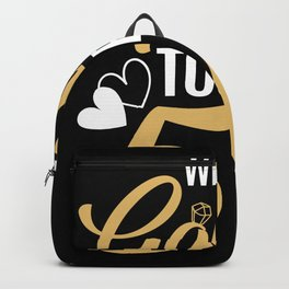 50th Wedding Anniversary 50 Years Golden Couple Backpack