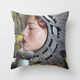 Ground Control  - Vintage Space Astronaut Collage Throw Pillow