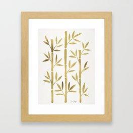 Bamboo Stems – Gold Palette Framed Art Print