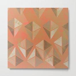 Geodes in peach Metal Print
