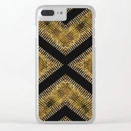 Black Gold   Tribal Geometric Clear iPhone Case