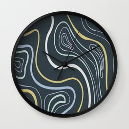 Swirl circle colourful digital oil painting lines. Wall Clock