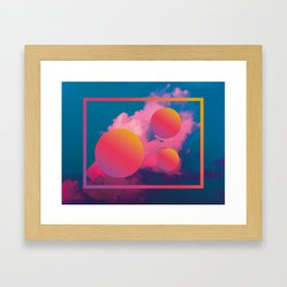 Vaporwave sky 1 / Rise / 80s / 90s / aesthetic Framed Art Print