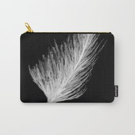 black and white leaf Carry-All Pouch