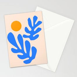 Henri Matisse - Leaves - Blue Stationery Cards