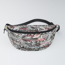 Creating Circumstances 4 Error 2 Fill the System with Meaning (P/D3 Glitch Collage Studies) Fanny Pack