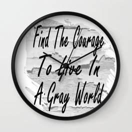 Gray World Wall Clock