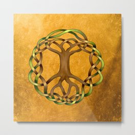 World Tree (Yggdrasil) Knot Metal Print