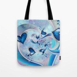 Blue Ocean Hearts Tote Bag