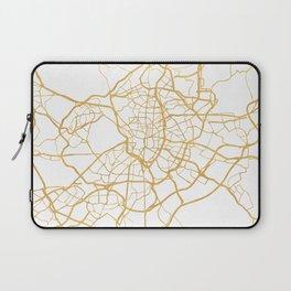MADRID SPAIN CITY STREET MAP ART Laptop Sleeve