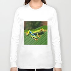 Green Tree Frog Red-Eyed Long Sleeve T-shirt