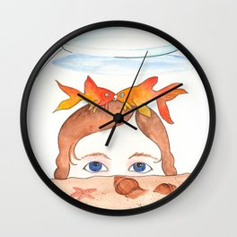 First Kiss - Goldfish! Wall Clock