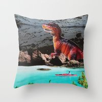 dinosaur Throw Pillows featuring Dinosaur by John Turck