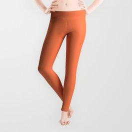 Coral Solid Color Leggings