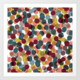 Dropped Dots Art Print