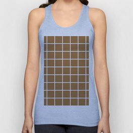 brown cube Unisex Tank Top