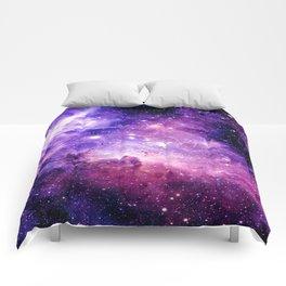 Galaxy Nebula Purple Pink : Carina Nebula Comforters