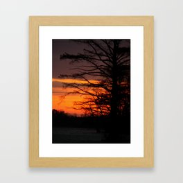 MORNIN GLOW ON THE JAMES RIVER Framed Art Print