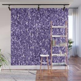 Ultra violet purple glitter sparkles Wall Mural