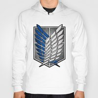shingeki no kyojin Hoodies featuring shield of shingeki  by Blaze-chan