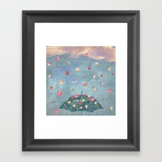 I Wished for a Rose Rain for You Framed Art Print