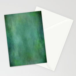 Looking into the depths of green Stationery Cards