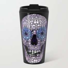 Skull Art - Day Of The Dead 2 Stone Rock'd Travel Mug