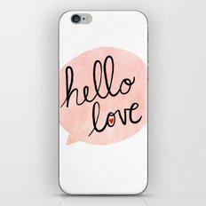 Hello Love iPhone & iPod Skin
