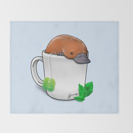 Pla-TEA-pus Throw Blanket