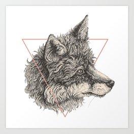 triangle fox Art Print