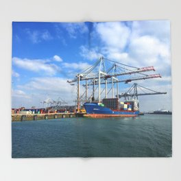 Southampton Port Throw Blanket