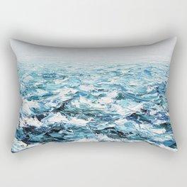 Atlantic Blues Rectangular Pillow