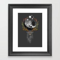 deer to dream Framed Art Print