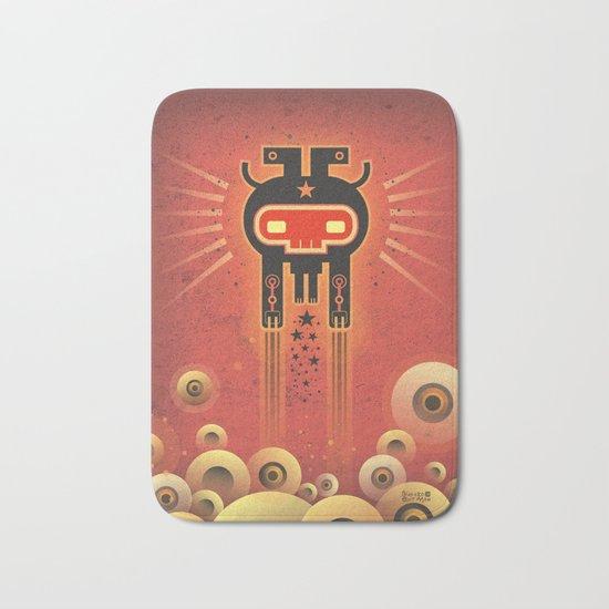ELECTROCHAMAN Red face Bath Mat